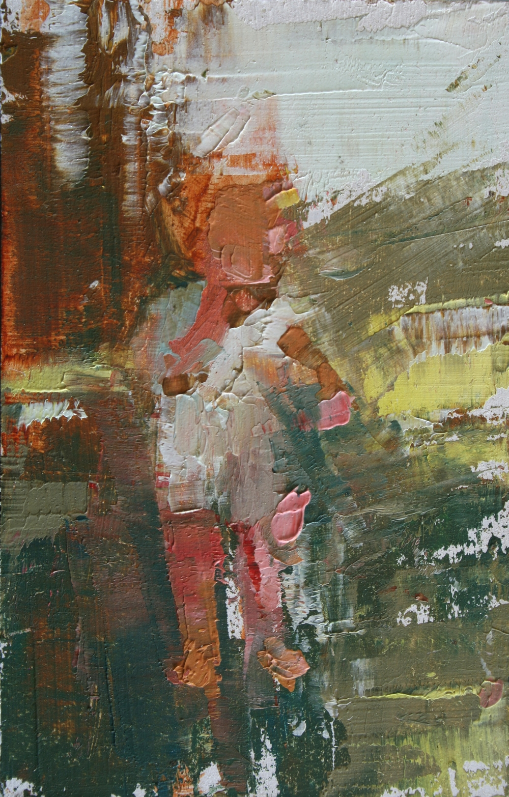 "TS 4, oil on panel, 3.25"" x 2"", 2010"