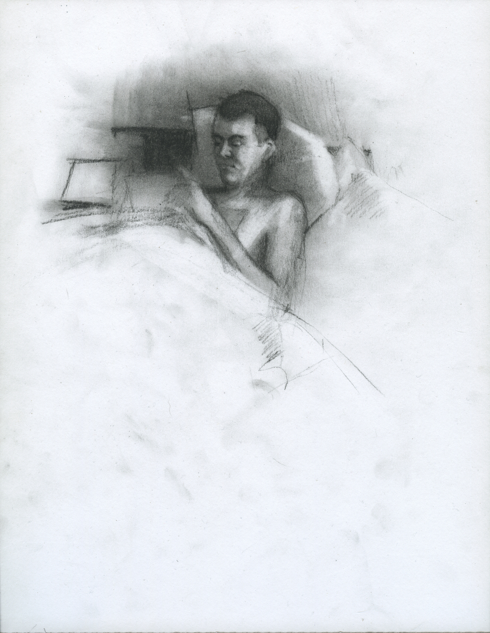 """Complicated In Practice, charcoal on paper, 11"""" x 8.5"""", 2014"""