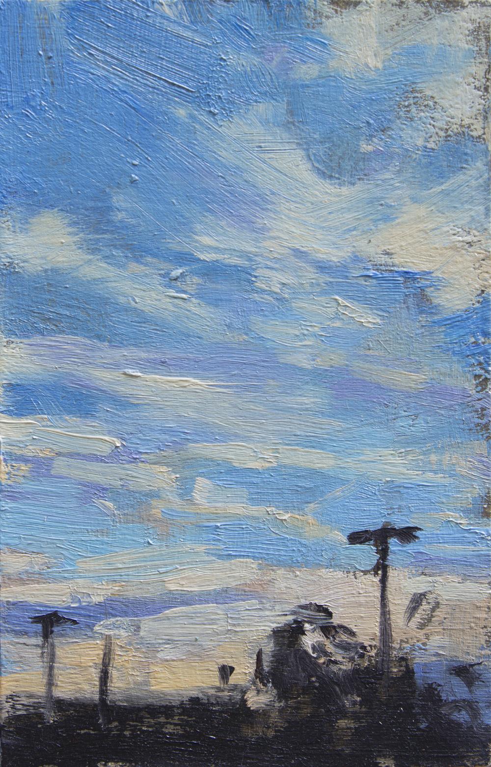 """TS 379, oil on panel, 3.25"""" x 2.2"""", 2015"""