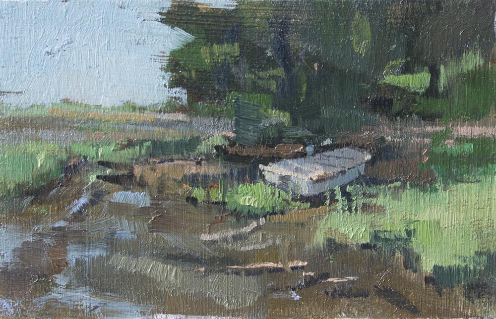 """TS 384, oil on panel, 2.2"""" x 3.25"""", 2015"""
