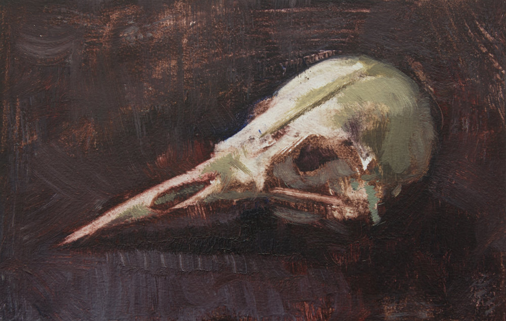 "TS 437, oil on panel, 2.2"" x 3.25"", 2016"