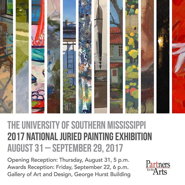 Ecstatic to be juried into the 2017 National Juried Painting Exhibition at the University of Southern Mississippi by Peter Van Dyck. @petervandyck is one of my personal painting heroes, the show opens August 31st!