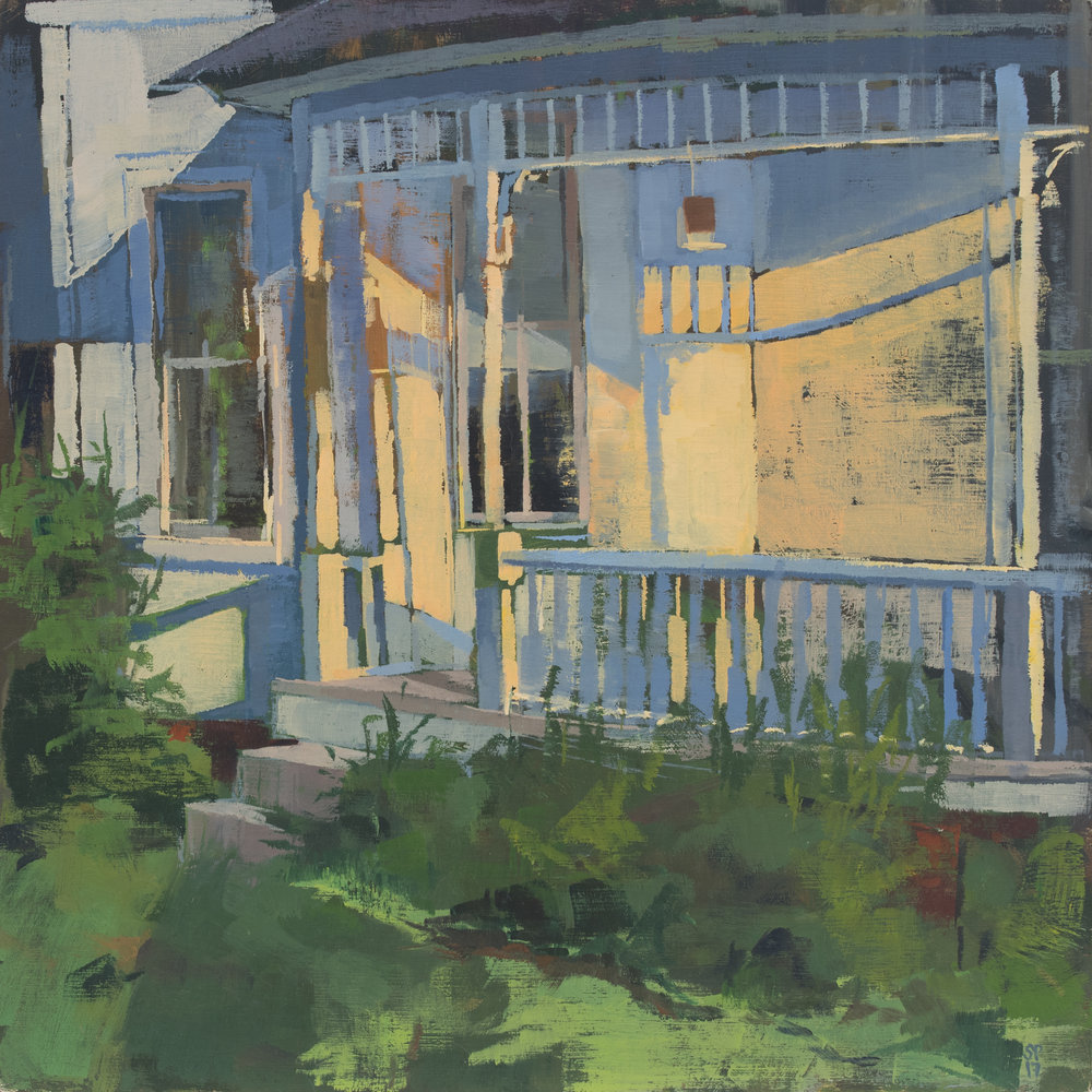 "East End of the House, 10"" x 10"", oil on panel, 2017, Private Collection"