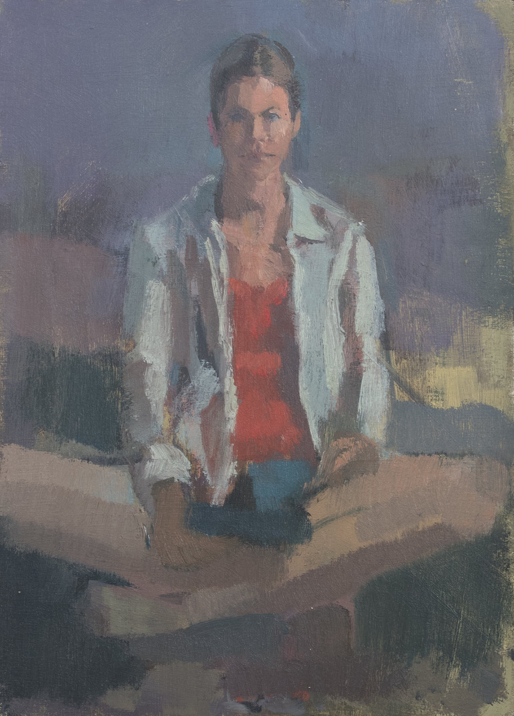 "Outside Myself no.1, Oil on Panel, 7"" x 5"", 2018"