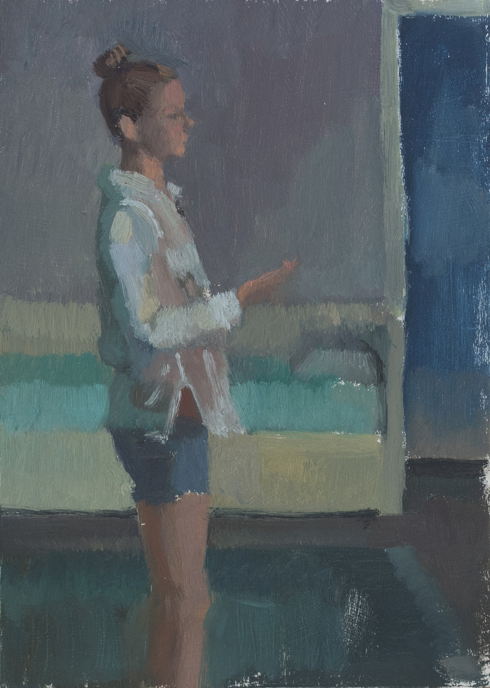 "Outside Myself no.6, Oil on Panel, 7"" x 5"", 2018"
