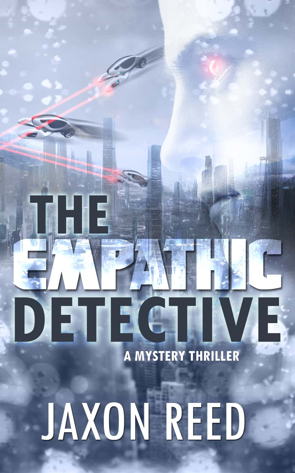 The Empathic Detective  - In a world of flying cars and planetary portals, Detective Gerald Bryce holds a rare power: the ability to read emotions. When he discovers a suspected murderess who shares his gift, she offers the fulfillment of his deepest desires. Soon he discovers she can manipulate emotions too, controlling others even to the point of committing murder. A battle breaks out between police and all the forces she can bring to bear. But other powers are at play as well, and they are far greater than anyone imagined …