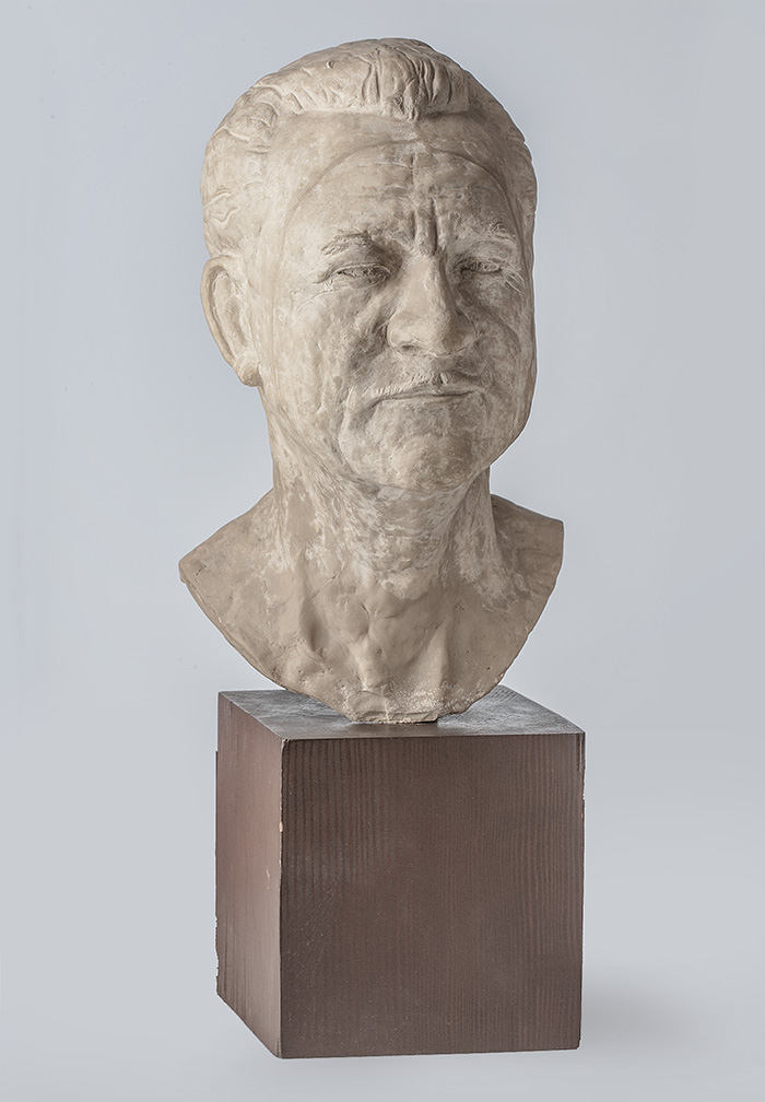 Portrait bust of his father by the artist