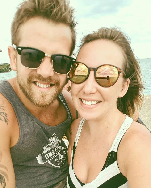Had a great weekend keeping it low key with my beautiful wife @katiemorrice_slack . Now back to work to get ready for a HUGE weekend! . . . . . #workface #inverhuron #lakehuron #vacay #backtowork #ccma #countrymusic #tanktop #cutoffs #sun #summer2018 #lakelife #sunshine #sunglasses #relax