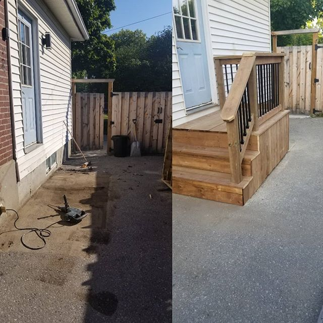 #transformationtuesday #noporch #newporch #nicedeckbro #upgrade