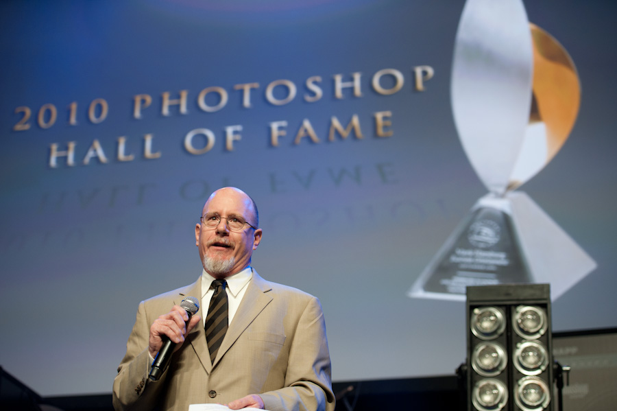 Peter during his Hall of Fame Acceptance Speech.