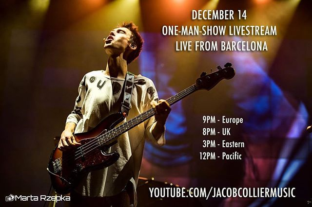 Tomorrow: ONE-MAN SHOW LIVESTREAM! 9pm Europe time, Live from Barcelona. On YouTube. See ya there :-)