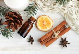 cinnamon,holiday,frankincense,lemon,tea tree