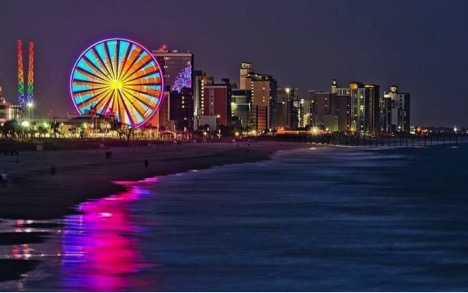 Myrtle Beach Skyline at Night