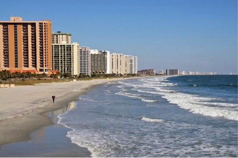 Beachfront hotels abound in Myrtle Beach!