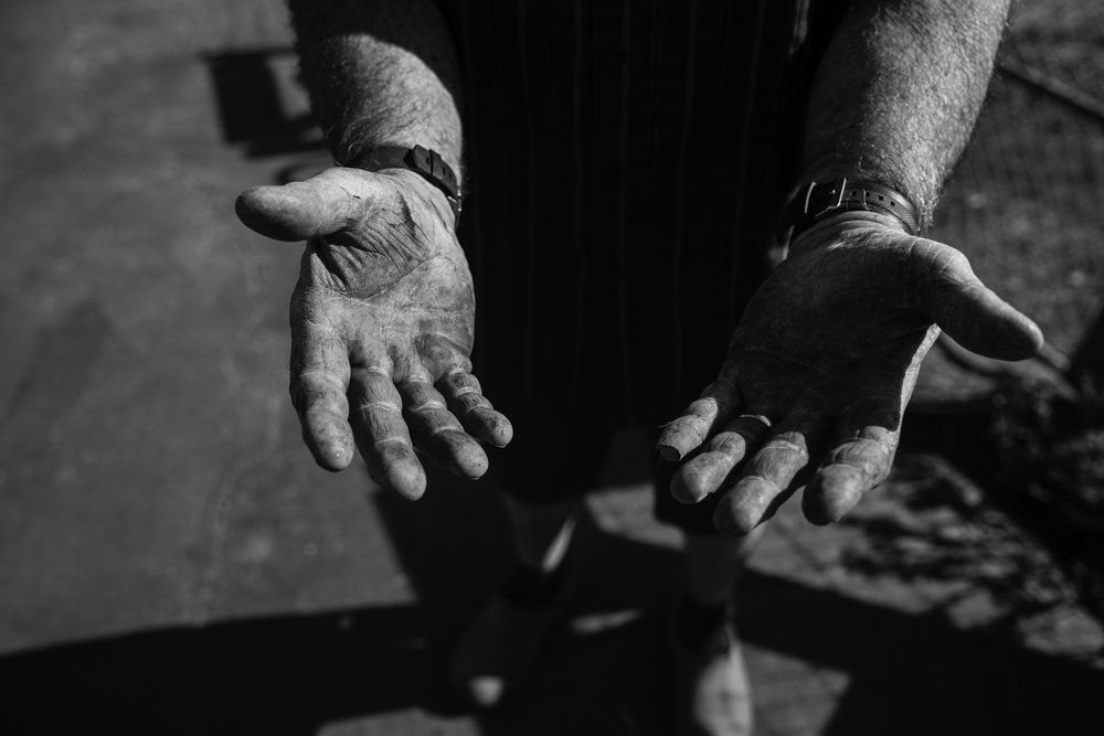 a thousand stories in these hands. these hands that fought two days for his home and animals. the hands of a fighter. the hands of love.