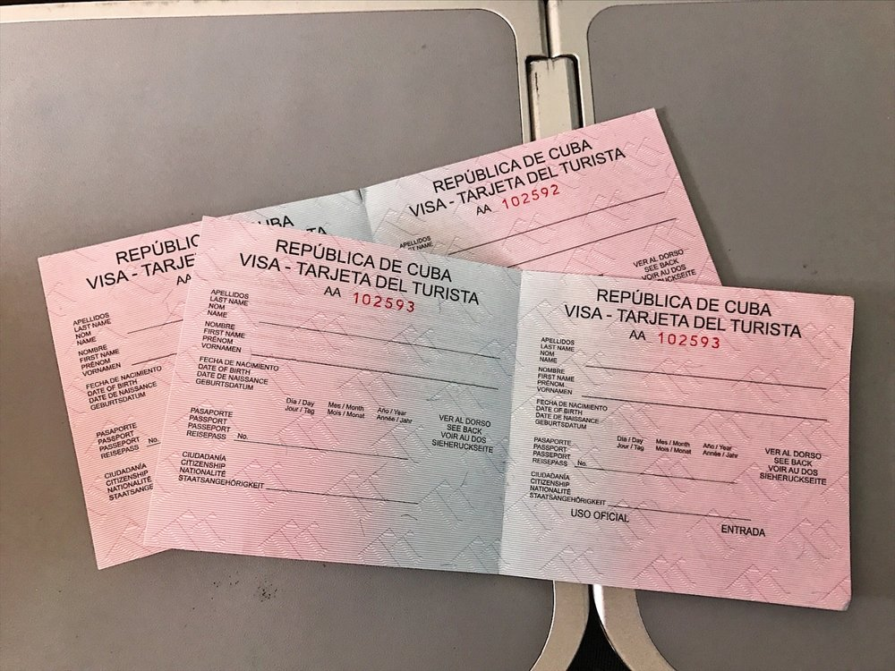 The Cuban visa card you need to buy and fill out