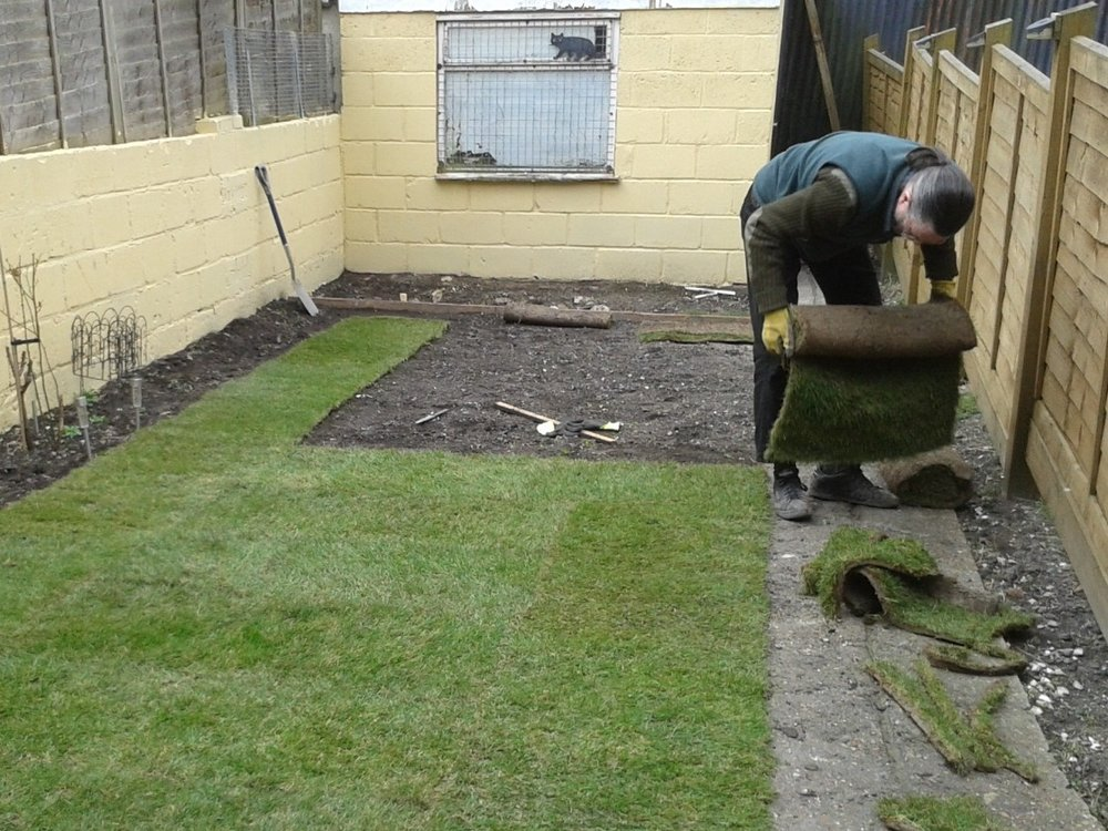 Make sure the ground is prepared well befor laying turf