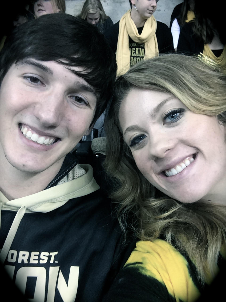 D and I at the Wake vs. State game.