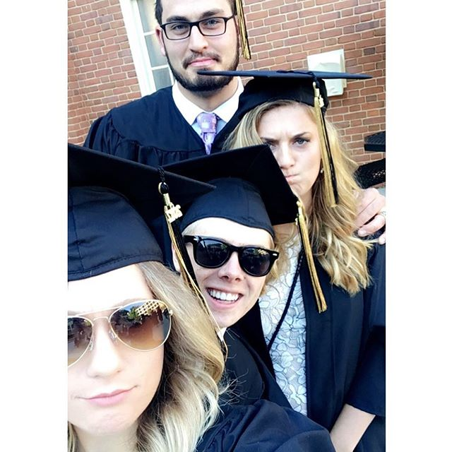 The fam graduated today 🎩. #wfugrad #dysfunctionalfamily