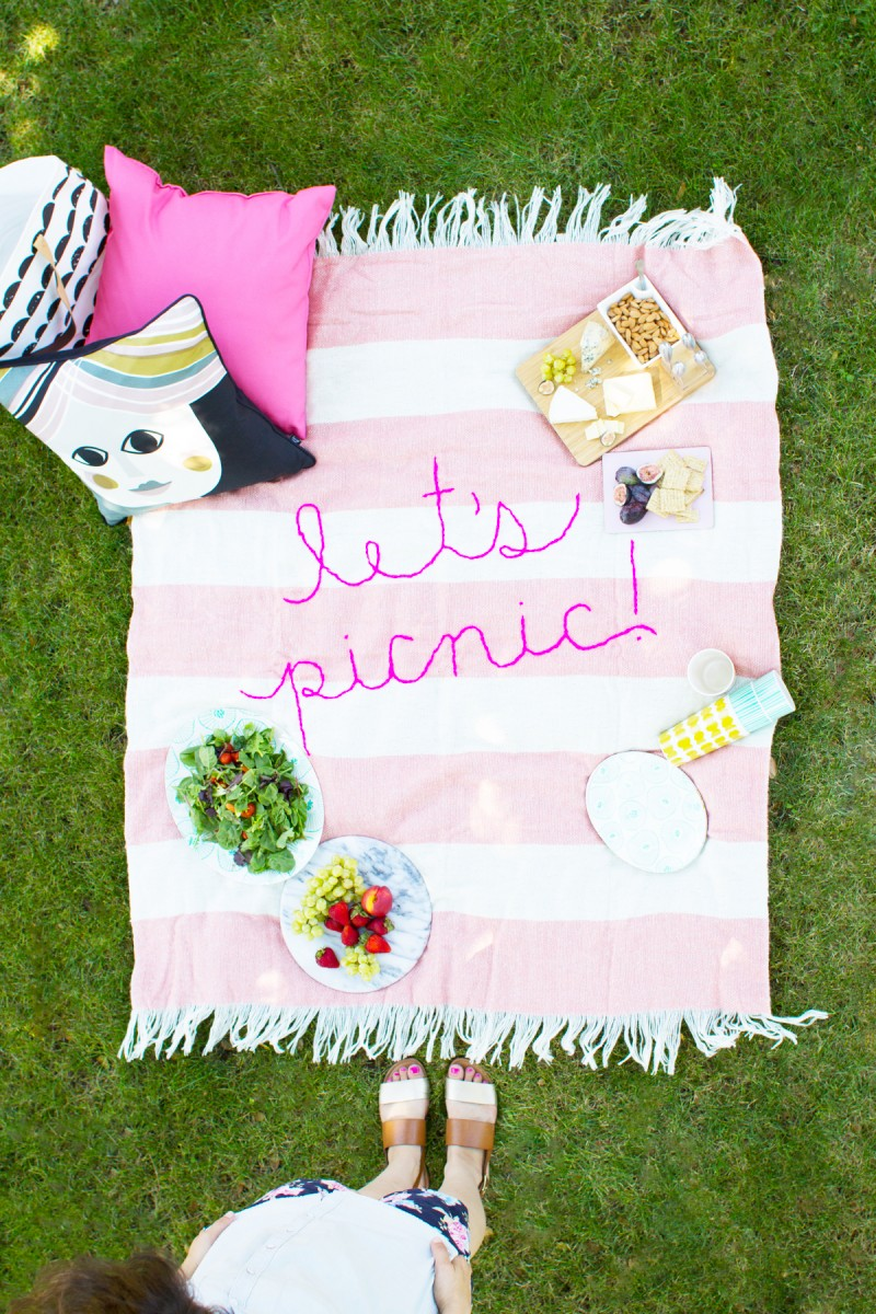 these blankets - my graduation party is outside, and I love the simplicity of having several large blankets spread out.