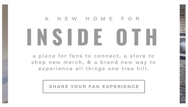 We're live!!! A new landing page is up for you to enjoy and submit your #OTH experiences while we work on our new amazing site. Please feel free to submit your stories if you sent them in last summer. We're so thankful for your support and can't wait to have an even more amazing way to stay in touch! Xx The Inside OTH Team.