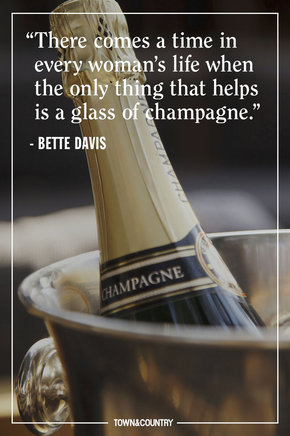 champagne - I know I don't need to tell you againhow real the love of champagne is over here, but just in case you forgot, these 10 quotes will have you going to pick up some bubbly and toasting the greats.