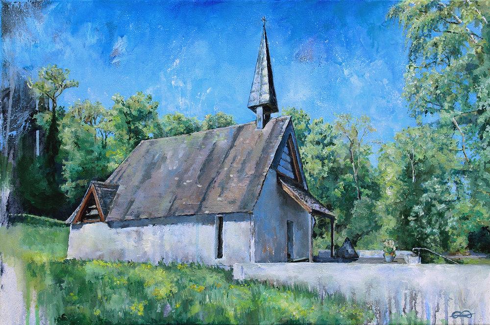 Bruderklausen-Kapelle / 2018 / Acryl auf Leinwand / 40 x 60 cm