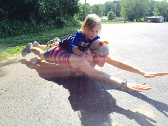 Judah and I planking on our @twolinesboardco longboard over the summer.