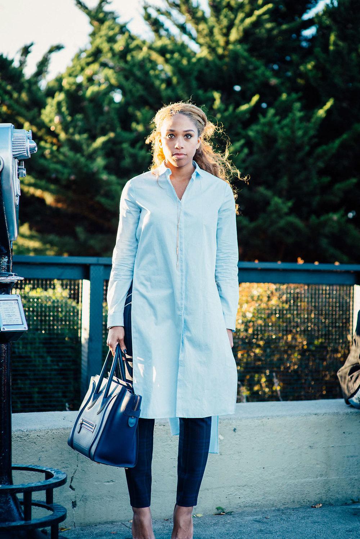 Shirt:  Zara  | Trousers:  Zara  | Bag: Celine | Shoes:  So Kate  | Accessories: Forever21