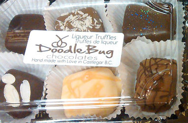 "Doodlebug Chocolate   ""at DoodleBug we take pride in the creation of our handmade confections. We believe in using the finest ingredients we can find, organic where possible, keeping our recipes simple & with pronounceable ingredients..."""