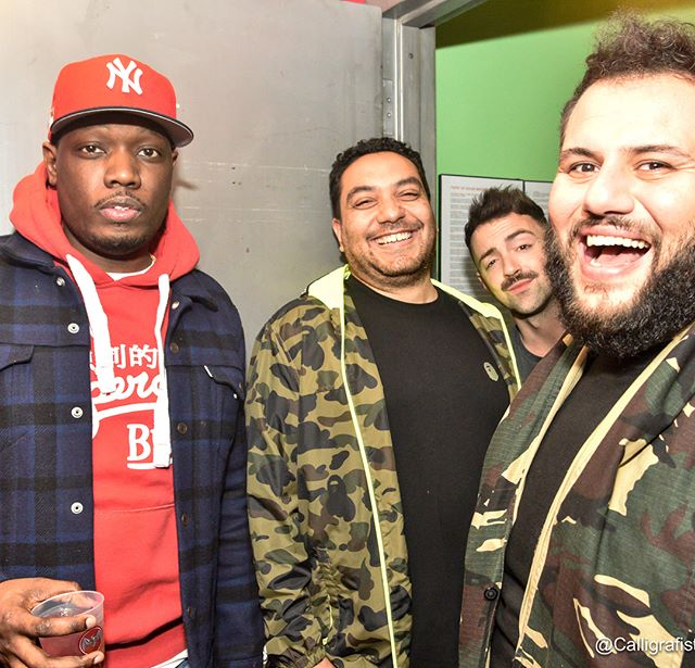 Happy birthday to @ciphasounds.  Thank you for having me at your birthday show...here is a @chethinks trying to pose while Cipha and I are laughing about our jacket choices. @matteolane is always camera ready with his signature brow move. Great night with fellow comedians and even better getting to hangout with all these ridiculously talented humans. Cipha and I both agreed my custom camouflage jacket was better. #Goodtimes #TuesdaynightinNYC #Happybirthdaybro #LoveYouCipha!  #Familia
