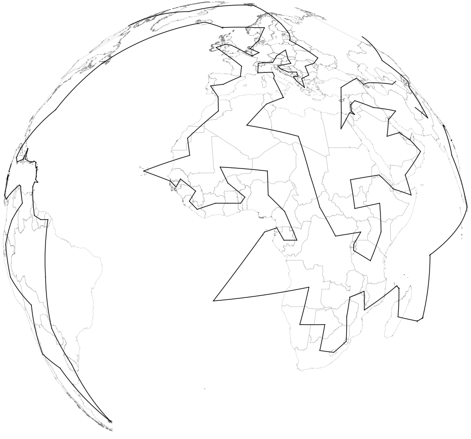 Orthographic projection.