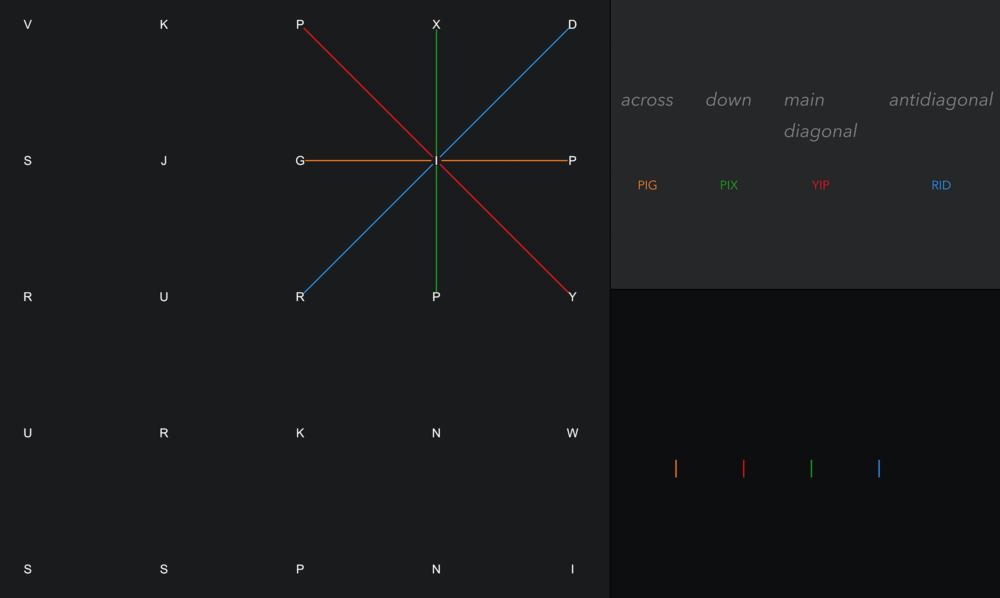 5 X 5 grid (fluke)
