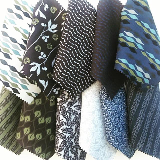 Digitally printed fabric samples
