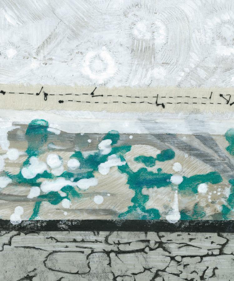"©Heidi Marie Faessel  ""Strata no.4""  Detail"