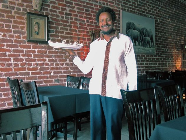Owner Abraham Samuel is happy to share details of Ethiopian culture and cuisine.