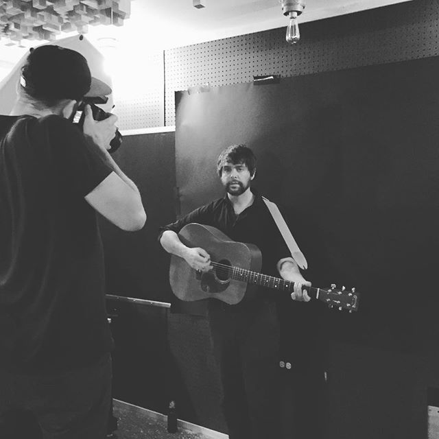 The incomparable Detroit music photographer Brian Rozman at the studio tonight shooting Mike Galbraith for the album cover on our upcoming release.  #the45factory #detroitmusic @brianrozmanphotography @mike_galbraith