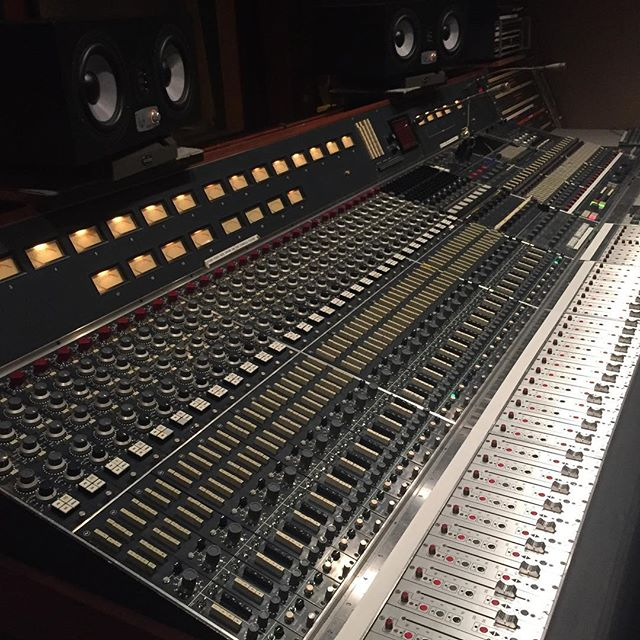 The 80 series Neve at Sear Sound. Crazy cool classic NYC record's have been made on this 40 year old work of design genius. @ams_neve @rupert_neve #recording #recordingstudio