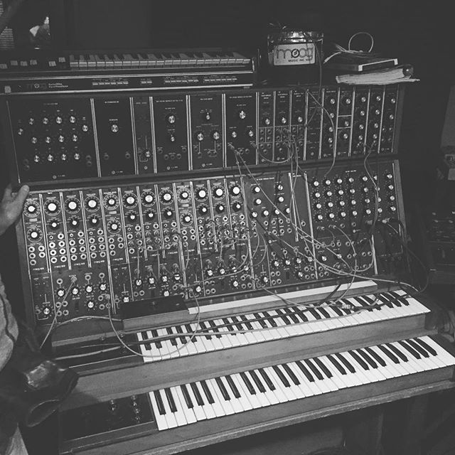 Walter's Moog Modular at Sear Sound in NYC. An honor to play this beast. One of the first ever made, and sounding insane to this day. #moog @moogsynthesizers