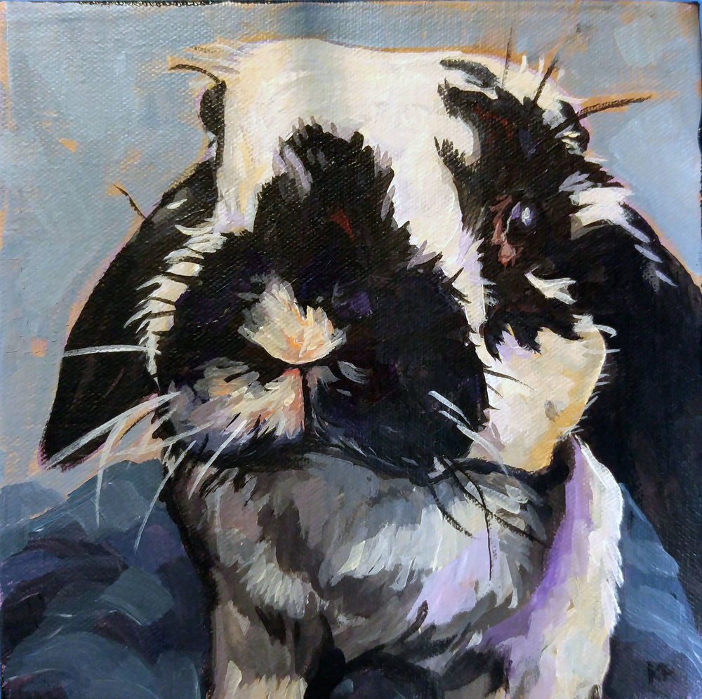 Treble, Acrylic on Canvas, 6x6