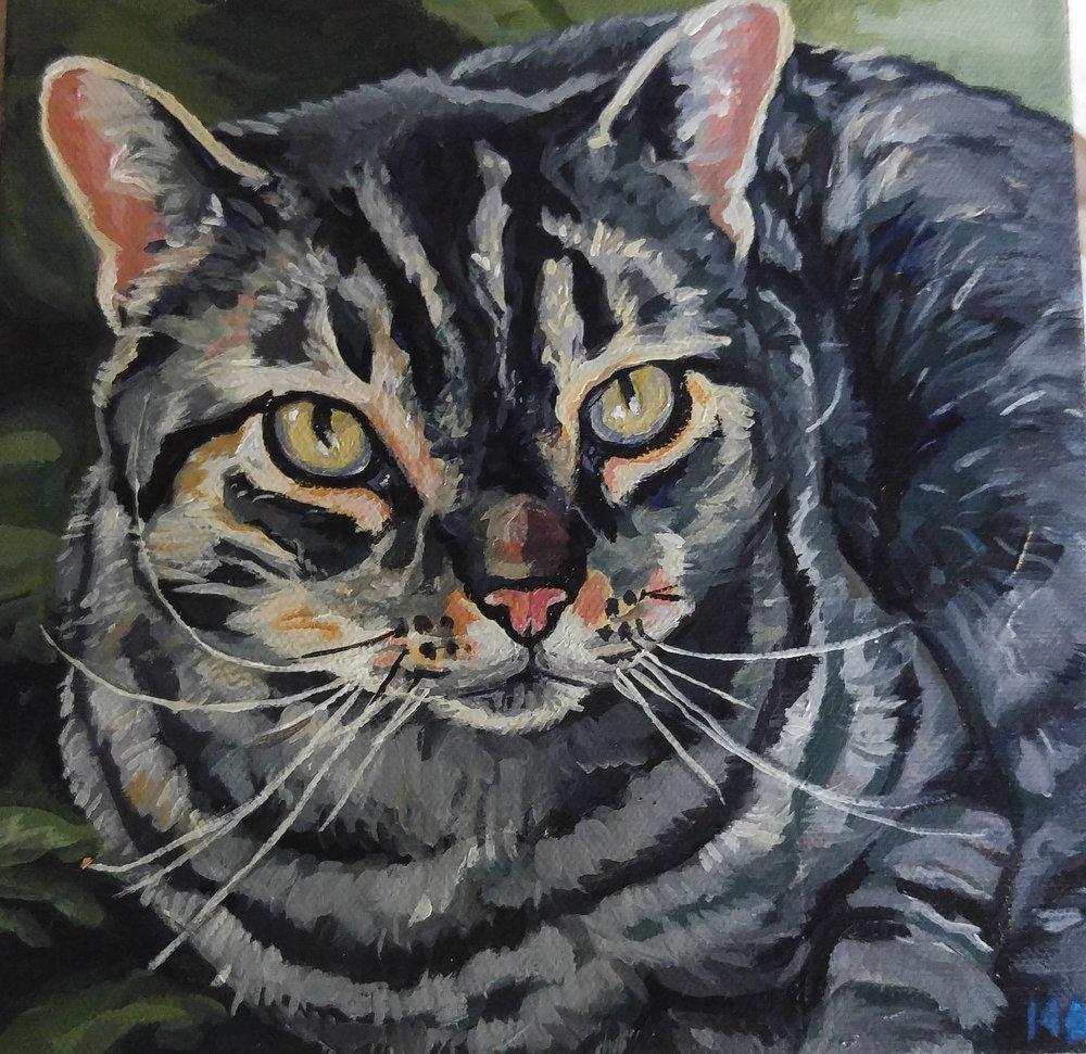 Acrylic on Canvas, 8x8