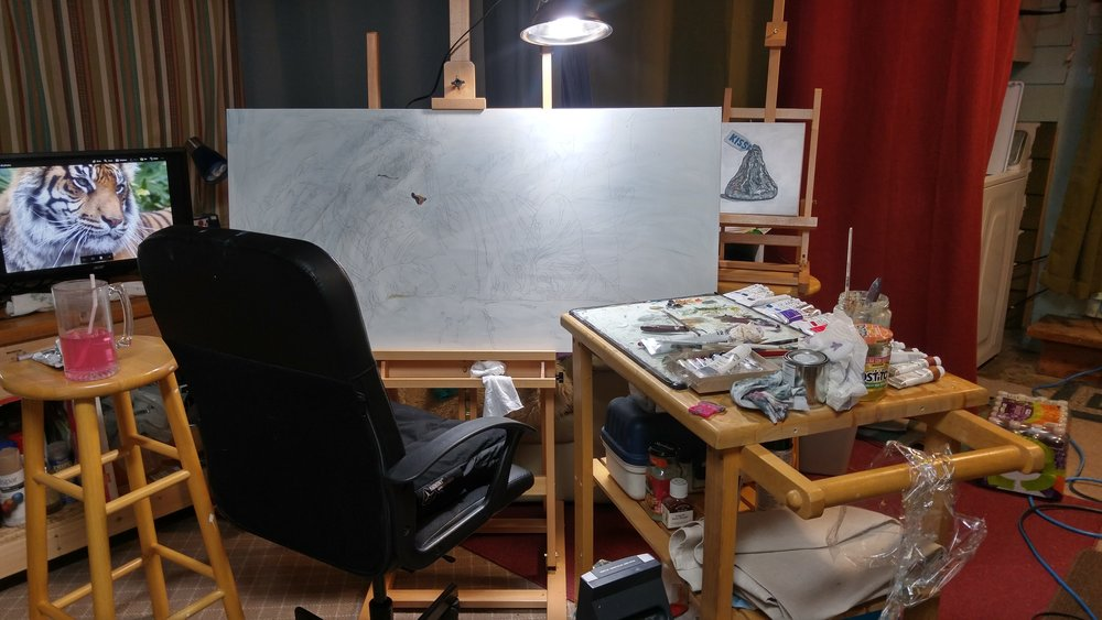 Painting Studio Set Up