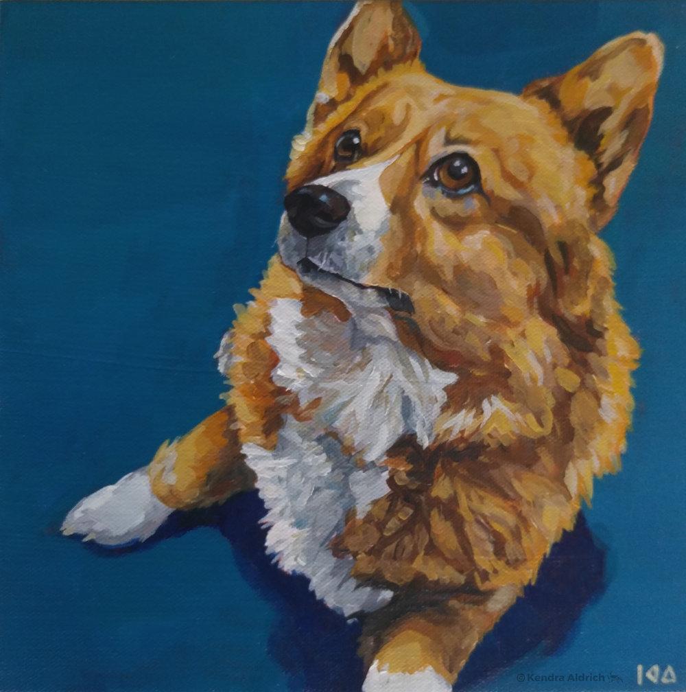 Rainier, Acrylic on Canvas, 10x10
