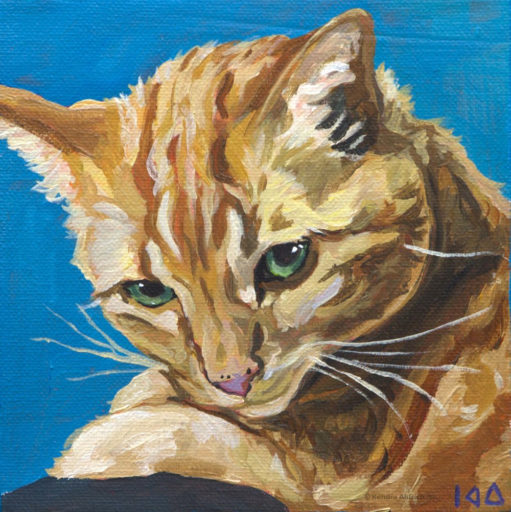 Daphnie, Acrylic on Canvas, 6x6