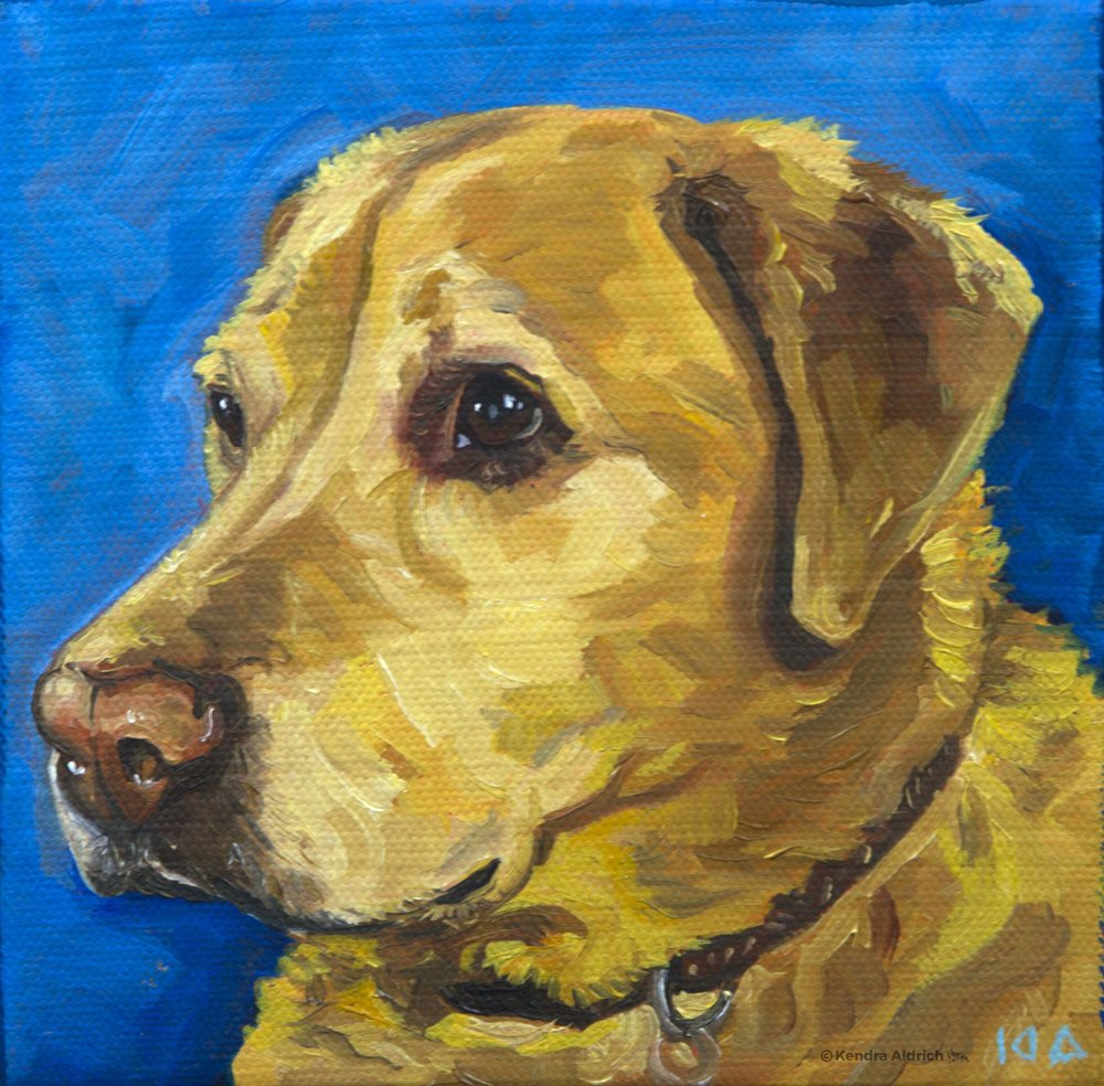 Denali, Oil on Canvas, 6x6