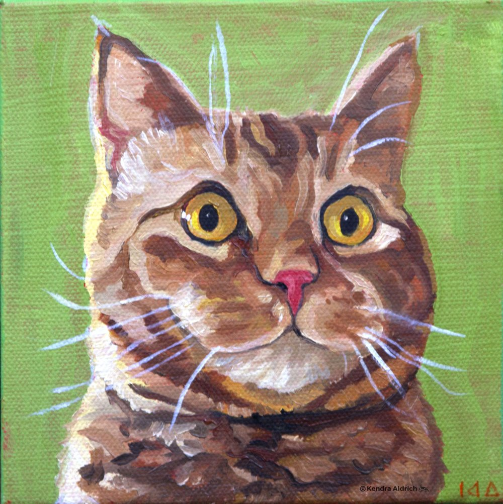 Pan, Oil on Canvas, 6x6