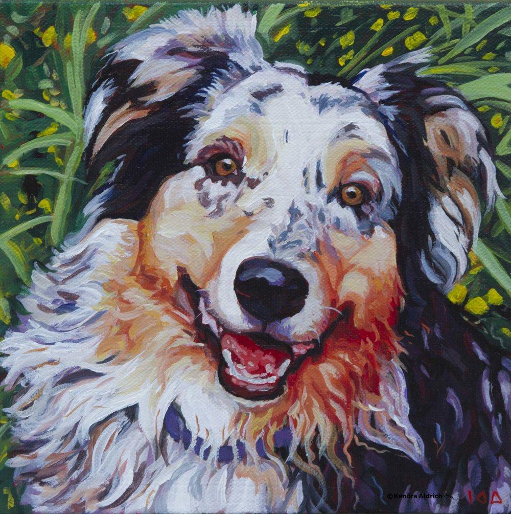 Sally, Acrylic on Canvas, 8x8