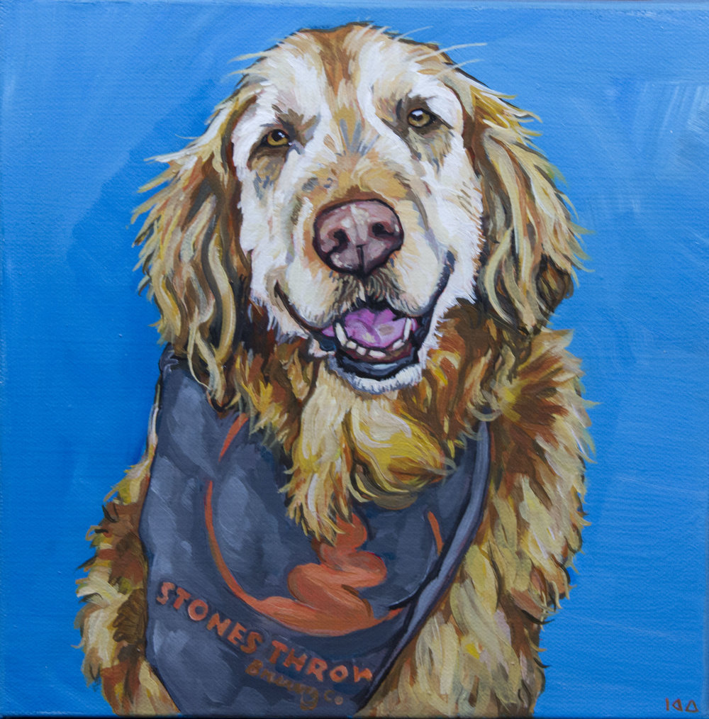 Ralphie, Acrylic on Canvas, 10x10