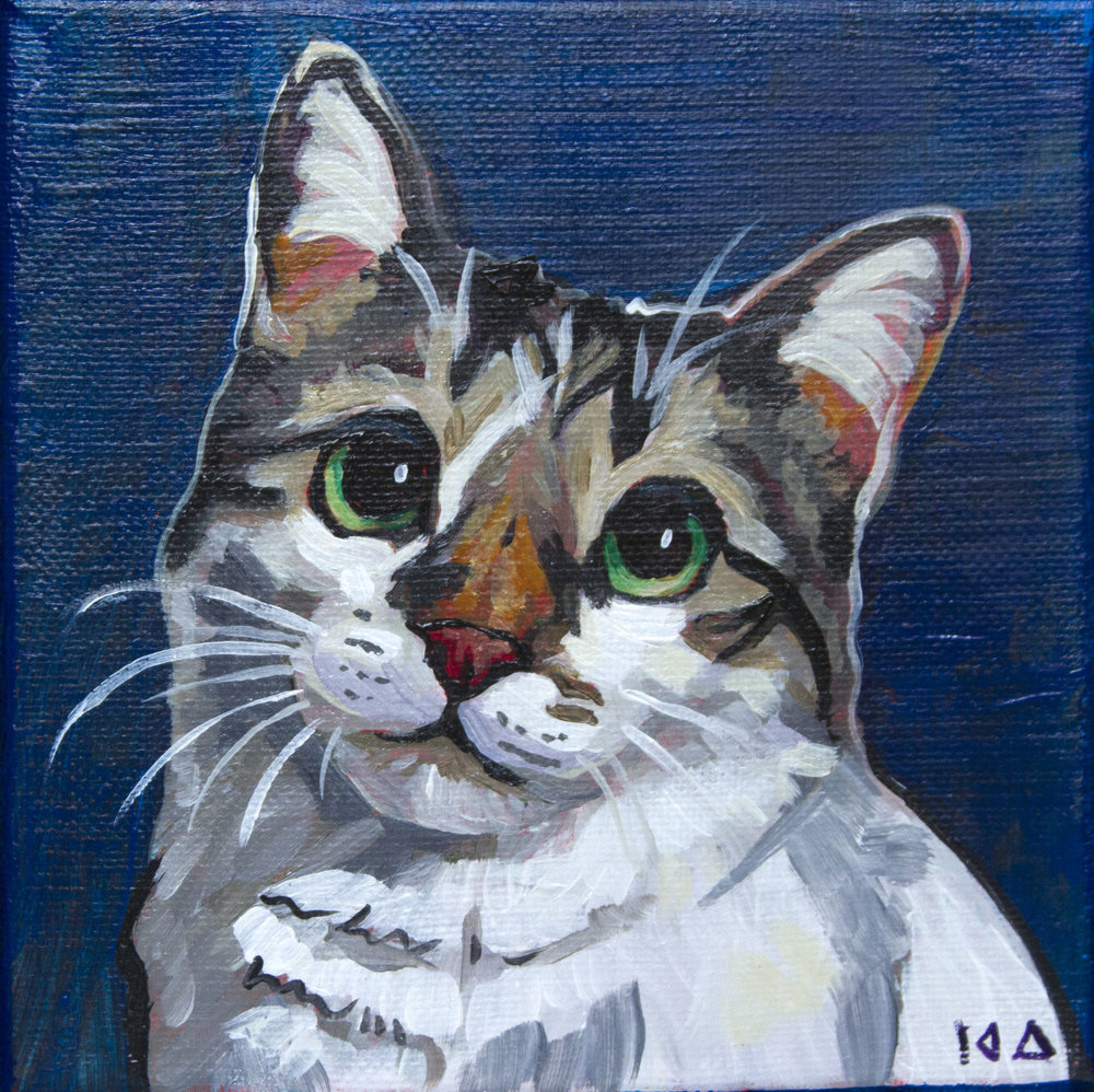 Ani, Acrylic on Canvas, 6x6