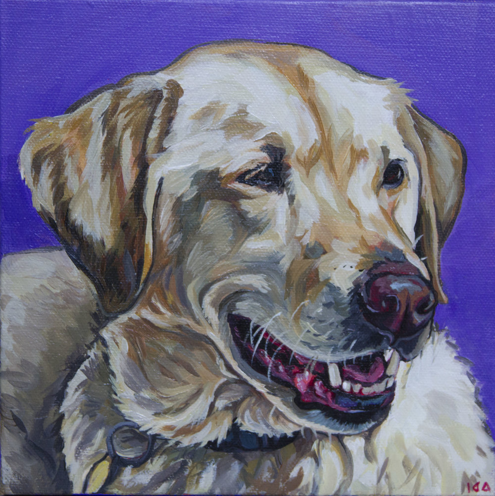 Jiggy, Acrylic on Canvas, 8x8